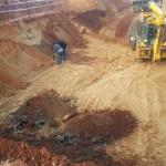 חפירת השטח למרתף