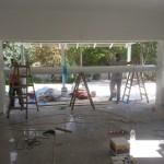 בית בזמן תהליך הבניה